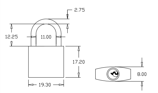 brass padlock diagram
