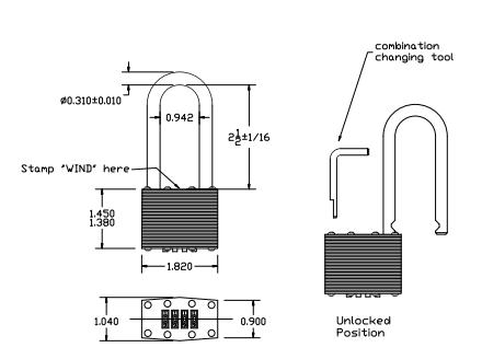 Amazing Laminated Steel Long Shackle Combination Lock Wind Hardware Wiring Cloud Pendufoxcilixyz