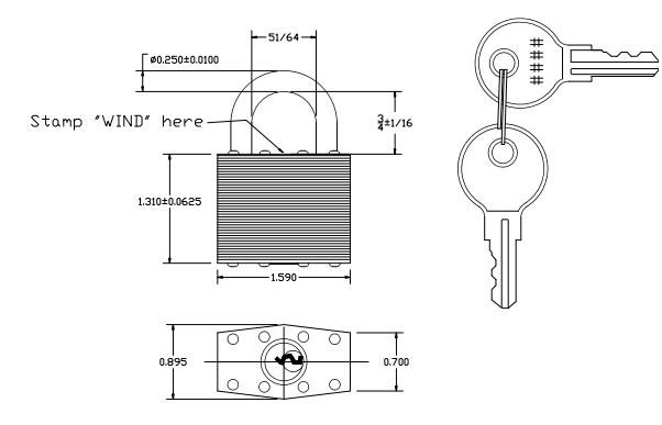 keyed padlock
